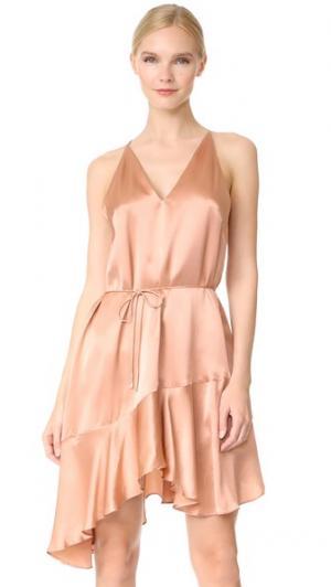Платье из шелка Richie Acler. Цвет: лососевый