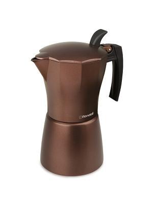 Гейзерная кофеварка 9 чашек Kortado Rondell 399-RDA. Цвет: бронзовый