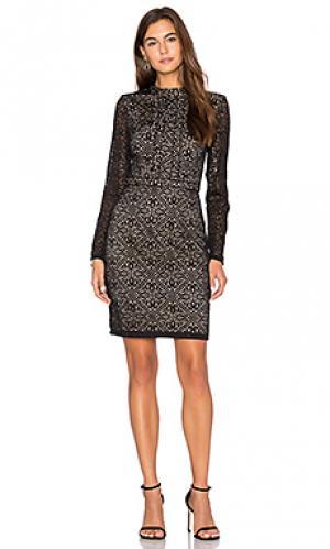 Платье с длинным рукавом mixed emotions Lumier. Цвет: черный