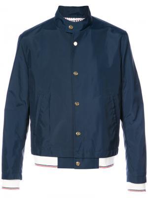 Куртка-бомбер Thom Browne. Цвет: синий