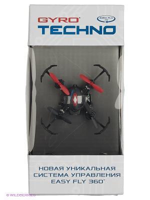Квадрокоптер 1toy GYRO-Techno 2,4GHz 4 канала 4,5х4,5см, 6-осевой, real headless режим. Цвет: прозрачный