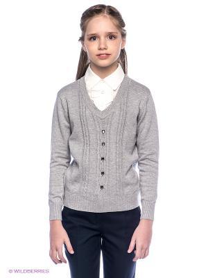 Пуловер PELICAN. Цвет: серый, белый