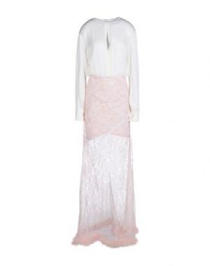 Длинное платье ALESSANDRA RICH. Цвет: белый