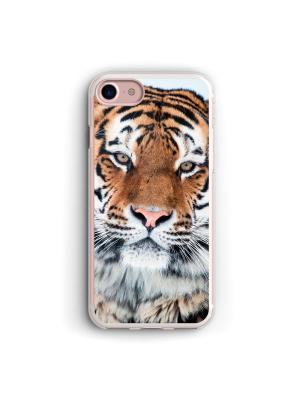 Чехол для iPhone 7/8 Тигр Boom Case. Цвет: черный, белый, персиковый