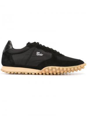Кроссовки на шнуровке Off-White. Цвет: чёрный
