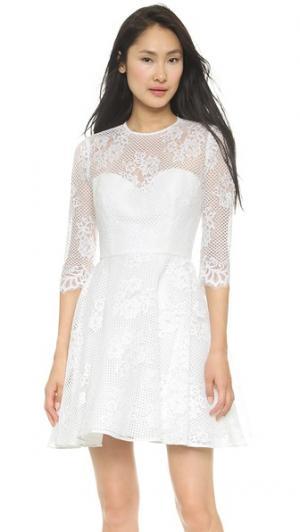 Платье Mignon с юбкой-трапецией Monique Lhuillier. Цвет: белый