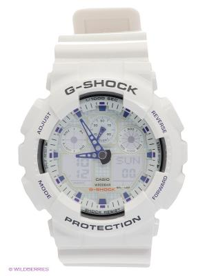 Часы G-SHOCK GA-100A-7A CASIO. Цвет: белый