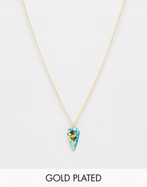 Only Child Ожерелье с подвеской‑шипом Mystic. Цвет: мульти