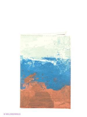 Обложка для документов Mitya Veselkov. Цвет: коричневый, голубой