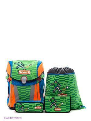 Рюкзак с наполнением Scout. Цвет: зеленый, оранжевый