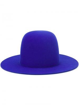 Фетровая шляпа-панама Études. Цвет: синий
