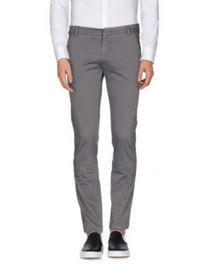 Повседневные брюки MASSIMO BRUNELLI. Цвет: серый