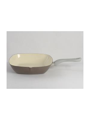 Сковорода эм., без крышки 26х26 см Metalac Posude. Цвет: серый, бежевый