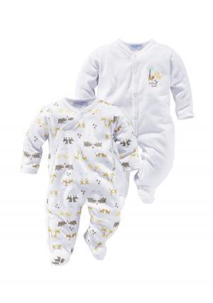 Пижама, 2 штуки KLITZEKLEIN. Цвет: серый/белый