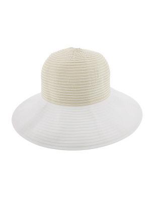 Шляпа R.Mountain. Цвет: бежевый, белый
