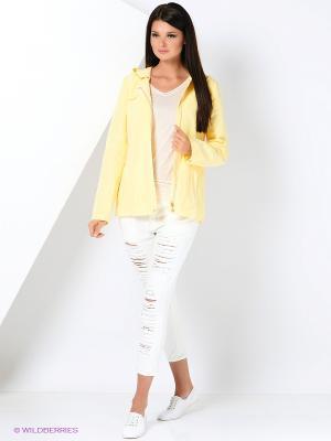 Куртка КАЛIНКА. Цвет: светло-желтый