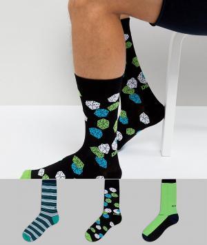 Diesel Подарочный набор носков (3 пары). Цвет: темно-синий