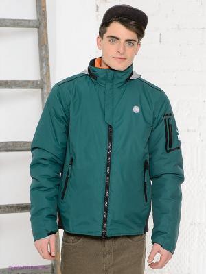 Куртка Think Pink. Цвет: зеленый, черный