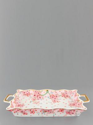 Хлебница Сакура Elan Gallery. Цвет: розовый, белый