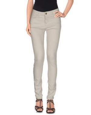 Джинсовые брюки MAISON ESPIN. Цвет: светло-серый