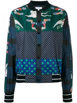 Куртка-бомбер Diomepape Pierre-Louis Mascia. Цвет: синий