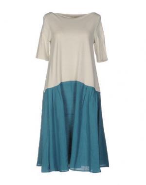 Платье до колена A.B APUNTOB. Цвет: бирюзовый
