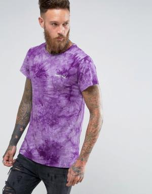 Roadies Оверсайз-футболка с принтом тай-дай of 66. Цвет: фиолетовый