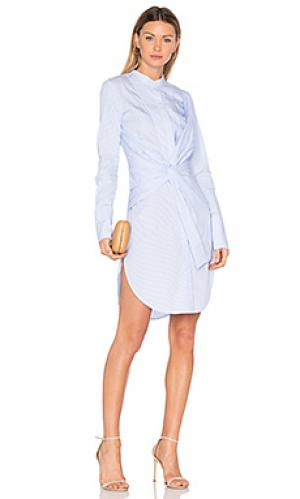 Платье-рубашка rowe Acler. Цвет: синий