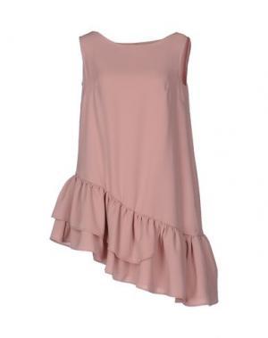 Короткое платье MACRÍ. Цвет: телесный