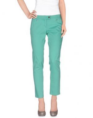 Повседневные брюки LUCKY LU Milano. Цвет: светло-зеленый