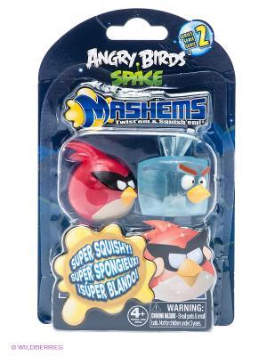 Детская игрушка Сердитые Птички Космос, Кристалл  S2, игрушки-мялки, 2 шт. в наборе ANGRY BIRDS. Цвет: темно-синий, голубой, красный