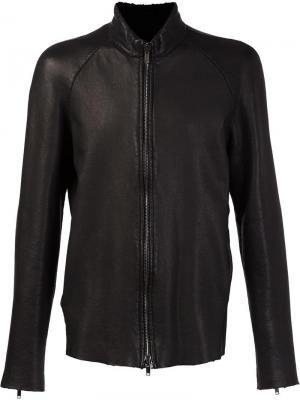 Куртка с высоким воротником на молнии Salvatore Santoro. Цвет: чёрный