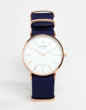 Reclaimed Vintage Часы с синим парусиновым ремешком Inspired. Цвет: синий