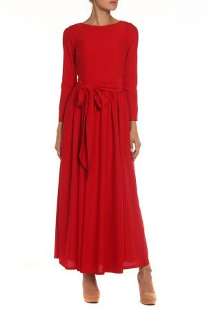 Платье-макси NATALIA PICARIELLO. Цвет: красный