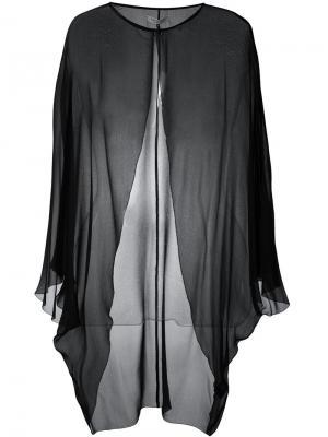 Прозрачный пиджак для вечернего выхода Halston Heritage. Цвет: чёрный