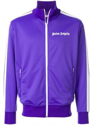 Спортивная куртка на молнии Palm Angels. Цвет: розовый и фиолетовый