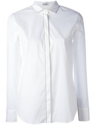 Cutaway collar shirt Brunello Cucinelli. Цвет: белый