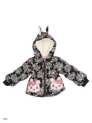 Куртка на синтепоне Kidly. Цвет: черный, серый, розовый