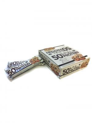 Батончик 50 % Full Prot Bar  шоколад/ печенье, (12 шт) QNT. Цвет: коричневый, белый