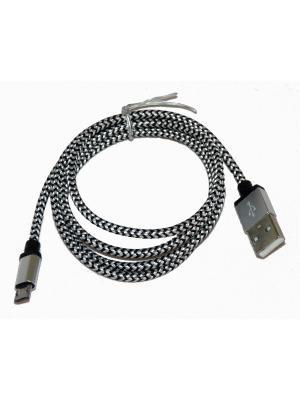 Usb кабель Pro Legend micro Usb, текстиль, черно-белый, 1м. Цвет: черный, белый