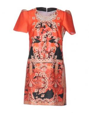Короткое платье PICCIONE•PICCIONE. Цвет: оранжевый