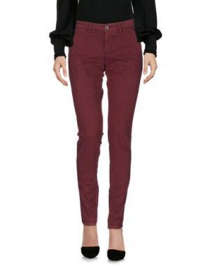 Повседневные брюки 40WEFT. Цвет: кирпично-красный