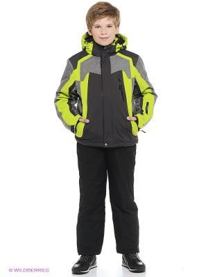 Куртка High Experience. Цвет: серый, салатовый