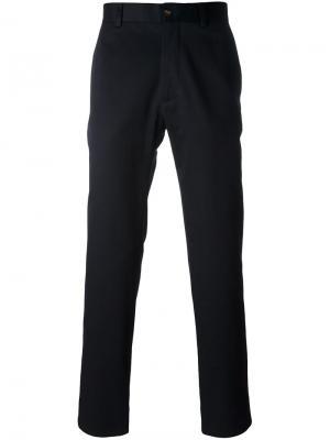 Классические брюки Moncler Gamme Bleu. Цвет: синий