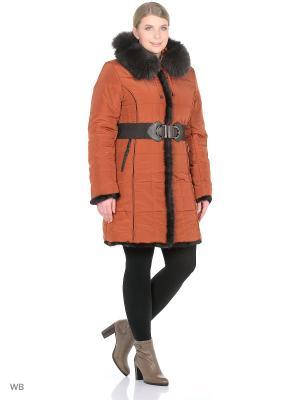 Пальто Finery Geo. Цвет: оранжевый