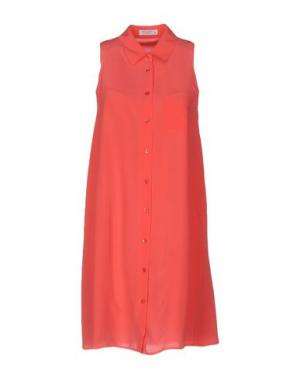 Короткое платье EQUIPMENT FEMME. Цвет: коралловый