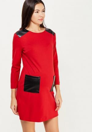 Платье MammySize. Цвет: красный