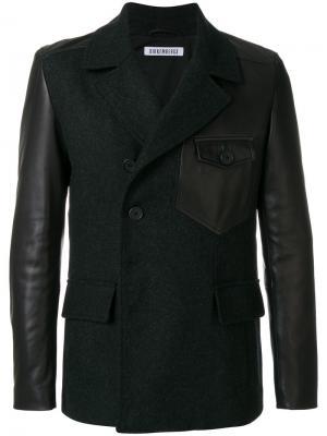 Классический пиджак с панельными дизайном Dirk Bikkembergs. Цвет: чёрный