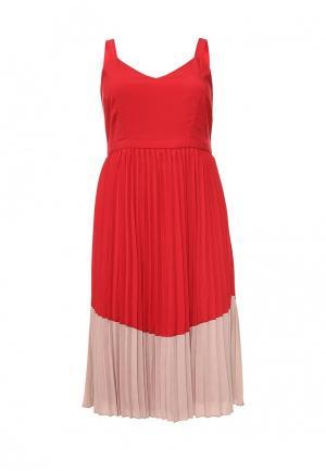 Платье LOST INK PLUS. Цвет: красный
