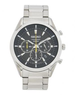 Наручные часы SEIKO. Цвет: серебристый